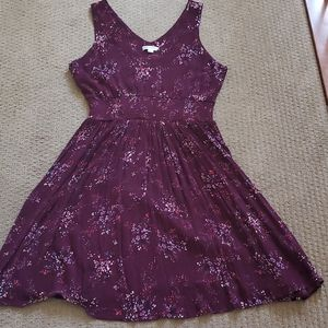 Purple coloured dress